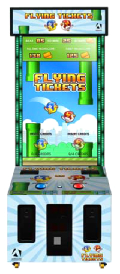 Flying Tickets Arcade Video Game From Adrenaline
