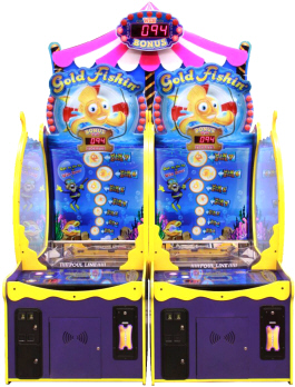 Gold Fishin' Arcade Deluxe Model Carnival Redemption Game | ICE Games