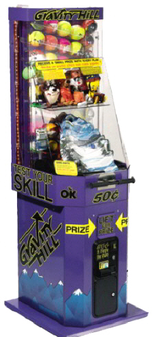 Gravity Hill Prize Capsule Skill Redemption Game From OK Manufacturing