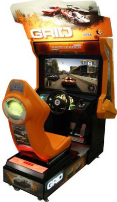 Grid Video Arcade Racing Game/ Racer Driver Grid Video Game From Codemasters and Sega
