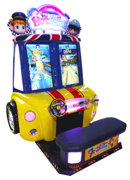 Hot Racers Ticket / Prize Redemption Arcade Game - SEGA Amusements