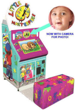 Little Masterpiece Mini Coloring Booth Finger Painting Kids Photo Booth Machine From LAI Games