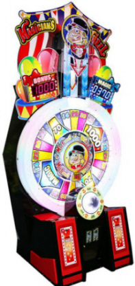 Magician's Wheel Ticket Redemption Arcade Game From Sega