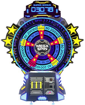 Mega Spin Ticket Redemption Wheel Game