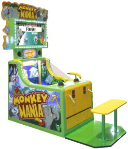 Monkey Mania Water Gun Ticket Redemption Game