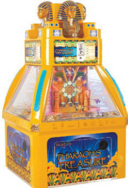 Pharaoh's Treasure Coin Pusher Redemption Game From Family Fun Companies