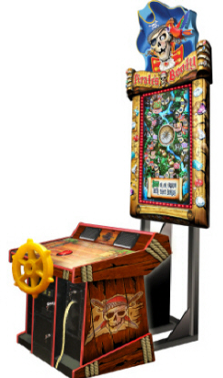 Pirate's Booty Deluxe Ship Wheel Control Model Ticket Redemption Video Arcade Game