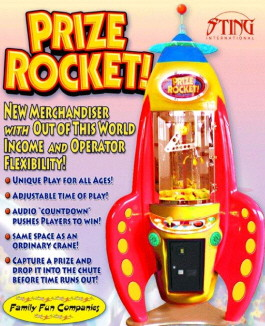 Prize Rocket Prize Merchandiser Crane Game