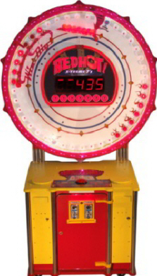 Red Hot Xtreme 7's / X-Treme 7s Ticket Redemption Ball Toss Game From Benchmark Games
