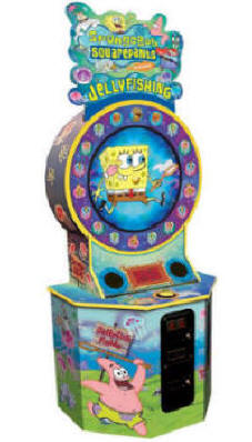 Spongebob Squarepants Jelly Fishing Arcade Ticket Redemption Game