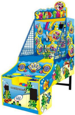 Squid Spies Ball Toss Game -  Ticket Redemption Game From LAI Games