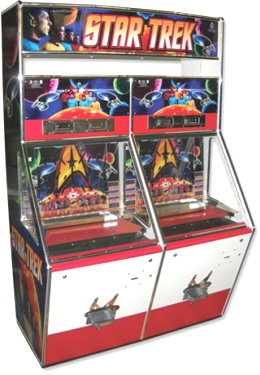 Star Trek 2 Player Token Coin Pusher Machine From Coastal Amusements