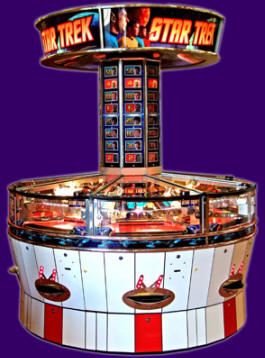 STAR TREK 8 Player Token Coin Pusher Machine From Coastal Amusements
