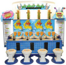 Stinky Feet Ducks FEC Arcade Model Water Gun Game