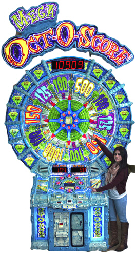 Super Mega Oct-O-Score / Octoscore Super Mega Ticket Redemption Wheel Game From Five Star