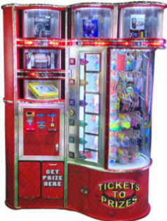 Tickets To Prizes Next Generation Prize Redemption Center Machine From Benchmark Games