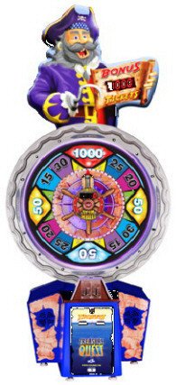 Treasure Quest Ticket Redemption Wheel Game From ICE
