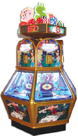 The Vegas Sensation Coin Pusher Redemption Game From Jennison Entertainment / Betson Enterprises