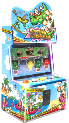 Whack 'Em Funky Gators Ticket Videmption Game From Namco