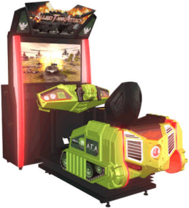 Allied Tank Attack Single Motion Simulator Game From Injoy Motion / Barron Games