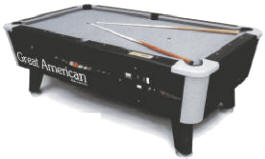 Black Diamond Pool Table - Coin Operated and DBA / Dollar Bill Acceptor By Great American Recreation Equipment