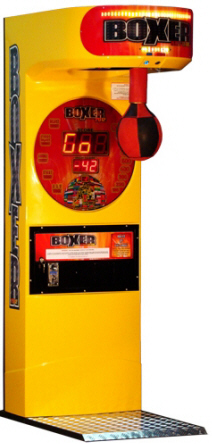 Power Strike Boxer 2012 Fire Edition Coin Operated Arcade Boxing Machine From Punchline Games