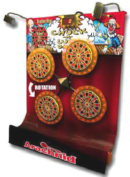 Chuck A Luck Multi-Dart Electronic Dart Board Machine Coin Operated From Arachnid Darts