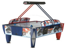 Double Fast Track Air Hockey Table | Commercial Coin Operated | ICE Games