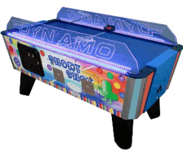 Short Shot Air Hockey Table- Coin Operated  From Dynamo