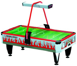 Orange Football Frenzy Air Hockey Table -  Coin Operated