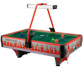 Orange Football Frenzy Double Wide Air Hockey Table - Coin Operated