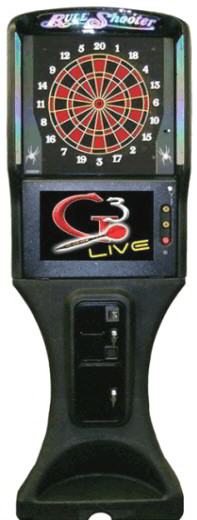 Galaxy 3 Live  /  Galaxy III Live Electronic Bar League Dartboard / Dart Machine From Arachnid