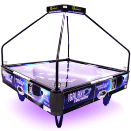 Galaxy Collision Quad Air 4 Player Coin Operated Air Hockey Table From Barron Games