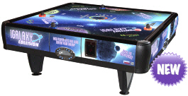 Quad Air Galaxy 4 Player Coin Air Hockey Table From Barron Games