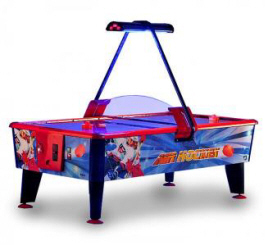 Gold Coin Operated Air Hockey Table From Punchline Games
