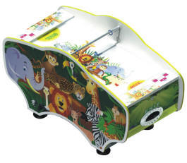 Jungle Hoki Baby Air Hockey Table - Coin Operated