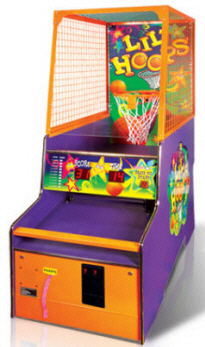 Lil' Hoops Coin Operated Basketball Game / Kids Ticket Redemption Game From Baytek Games