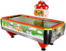 Magic Mushroom Mini / Mini Magic World Kids Coin Operated Air Hockey Table From Barron Games