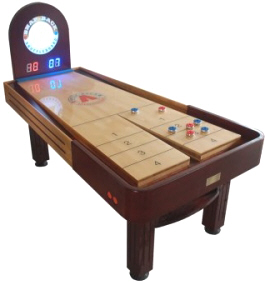 Pinnacle Snap Back Rebound Shuffleboard Table From Mega Mania