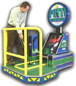 Putt Championship Edition Coin Operated Miniature Golf Video Arcade Game / Putt! Mini Golf Arcade By Athyrio Games and Chicago Gaming Company