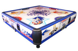 SEGA Sonic Quad Air Hockey Table - 2 to 4 Players From Barron Games and SEGA
