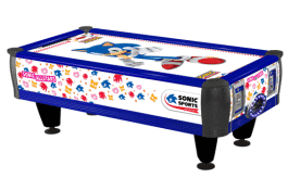 Sonic Sports Baby Air Hockey Table - SEGA Amusements