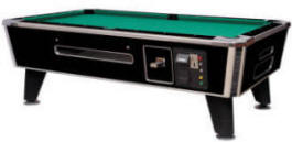 Spectrum Sterling Pool Table | Commercial Coin-Op / DBA Bar Style Billiards Pool Table By Medalist Marketing | Coin Operated and Electronic DBA / Dollar Bill Acceptor Model