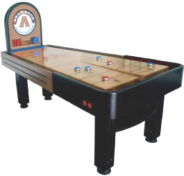 Summit Snap Back Rebound Shuffleboard Table From Mega Mania