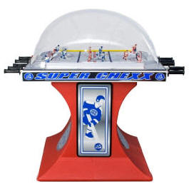 Super Chexx / Super Chex Basic Home / Free Play Red Model Dome Hockey Table / Bubble Hockey Game / Rod Hockey Machine From ICE Games