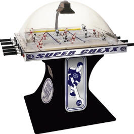 Super Chexx / Super Chex Deluxe Home / Free Play Black Model Dome Hockey Table / Bubble Hockey Game / Rod Hockey Machine From ICE Games