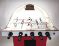 Super Chexx / Super Chex Deluxe Home / Free Play Red Model Dome Hockey Table / Bubble Hockey Game / Rod Hockey Machine From ICE Games