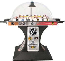 Official NHL / AHL Bubble Hockey Coin Operated Special Edition Dome Hockey Model From ICE