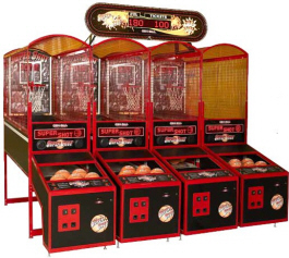 Super Shot Basketball 4-Player Model With Marquee From Skee Ball