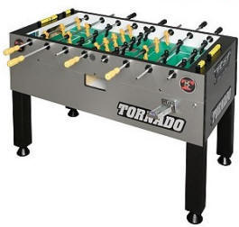 Tornado Platinum Tour Edition Coin Operated  Foosball Table